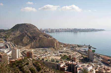 santa barbara: General view on Alicante from castle Santa Barbara Stock Photo