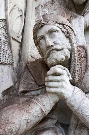 Escultura en el monasterio de Donscoy Foto de archivo - 581836