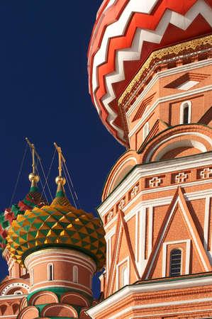 red square moscow: San Basilio  's Catedral en la Plaza Roja, Mosc�, Rusia.