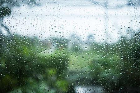 rain window: rain on glass Stock Photo