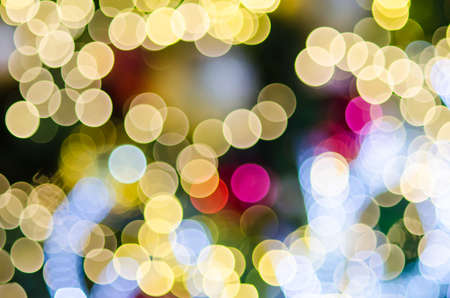 colorful bokeh from christmas tree blured background