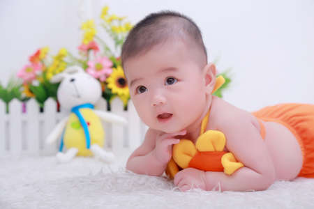 babygirl: Little girl lying in bed