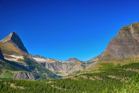 빙산 호수, 빙하 국립 공원, 몬태나 스톡 콘텐츠