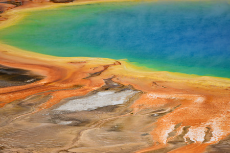 prismatic: Grand Prismatic Spring in Yellowstone National Park, Wyoming