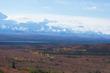 denali: Mountain cloud and landscape view in denali national park Stock Photo