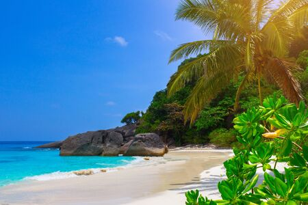 touched: Touched tropical beach in similan island