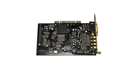 pci card: sound card for computer isolated on white