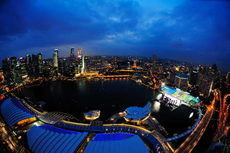 bird s eye: Bird s eye view of Marina Bay Editorial