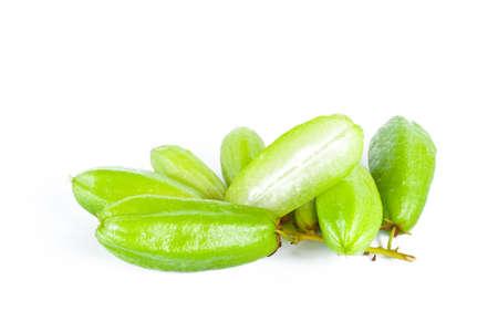 bilimbi: Bilimbi fruits on white  Stock Photo