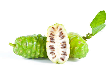 noni: Noni fruits on white isolated background