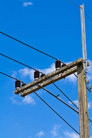 insulator: Insulator electric and blue sky .