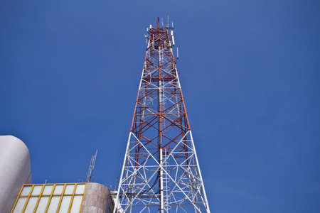 Mobile phone communication tower  Stock Photo