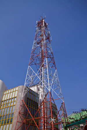 telco: Mobile phone communication tower  Stock Photo