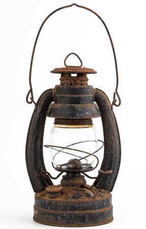 Old oil lamp isolated on white background Stock Photo - 18206555