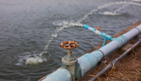 clarifier: Old Water valve of Waste water treatment plant