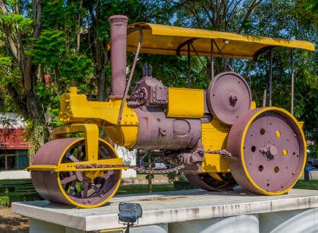 steamroller: Closeup Old Steamroller,Thailand