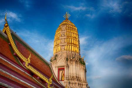 Pagoda in Wat Phra Sri Rattana Mahathat Temple in phitsnulok,Thailand.