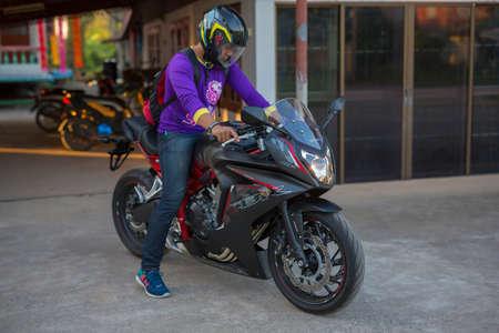 december 25: PHITSANULOK, THAILAND - DECEMBER 25 , 2016 : Private NEW Honda CBR650F Motorcycle in Phitsanulok, Thailand