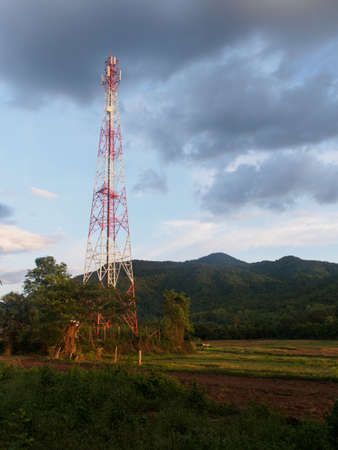 telephone pole: telephone pole Stock Photo