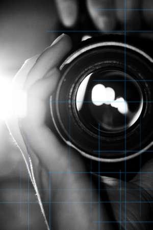 Camera in hands