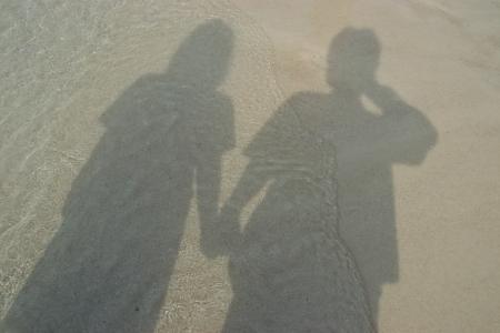 Lover on the beach, Thailand Stock Photo