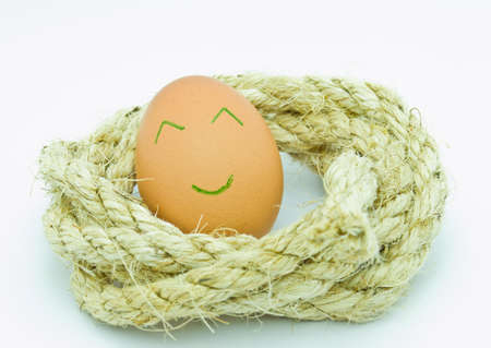 Rope and Egg Stock Photo