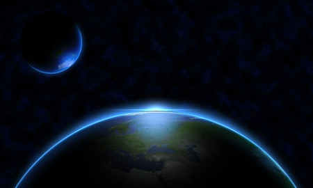 지구 공간에서 스톡 콘텐츠