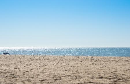 Beach and sea  Pure sky