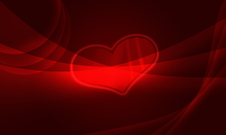 Red heart of Love Stock Photo