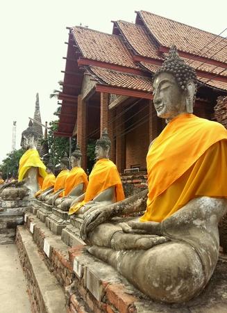 Wat Yai Chai Mongkol, Ayutthaya, Thailand. Stock Photo