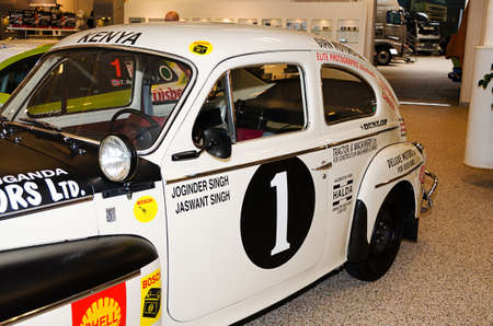 drove: A fine old race car as it drove rally