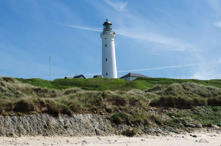 hirtshals: the lighthouse in Hirtshals in Denmark a beutiful day with blue sky Stock Photo