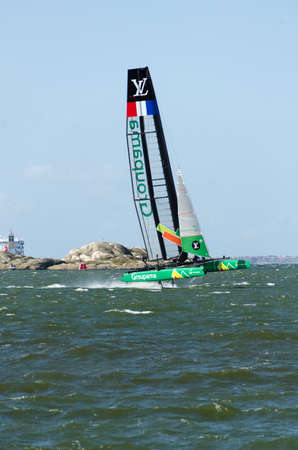 americas: americas cup in sweden one catamaran with great speed