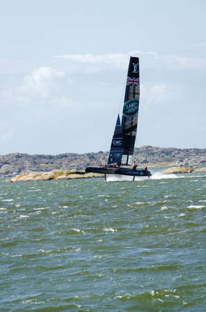 americas: americas cup in sweden team New Zealand with great speed