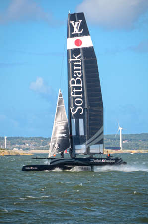 americas: americas cup in sweden team Japan with great speed