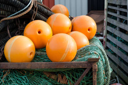 fishingnet: Fishing net with orange float this is made for big boat