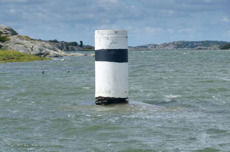 navigation mark: one navigation mark in the water to help to drive the boat safe