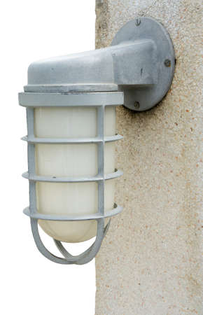 outdoor lighting: outdoor lighting with covered and protected, exterior lighting Stock Photo