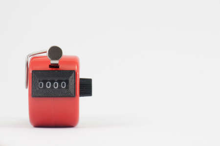 tally: old red hand tally counter