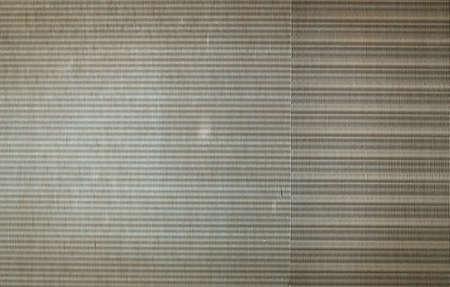Aluminum fins of heat exchange unit of air conditioner photo
