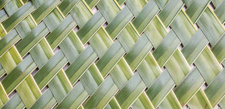 Pattern weaving of coconut leaves for  background photo