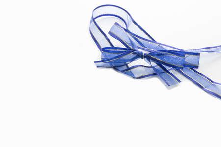ribbin: blue ribbin isolated on white background