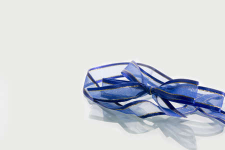 ribbin: blue ribbin on white background