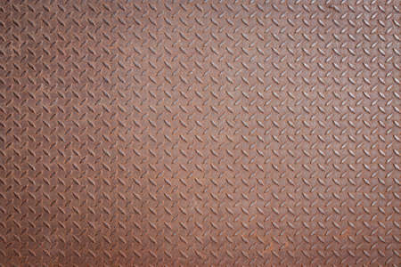 checker: old steel checker plate with rust condition, abstract background