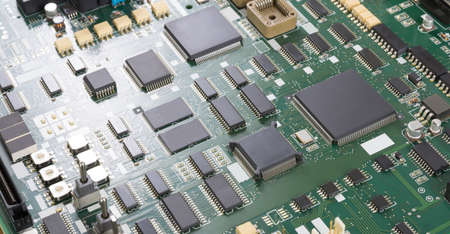 electronic background: mainboard, electronic abstract background