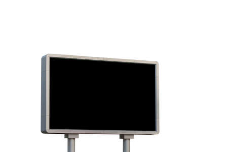 billboard advertising: led sign board on white background, clipping path