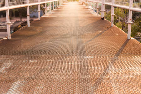 checker plate: old steel walkway, checker plate floor, abstract background