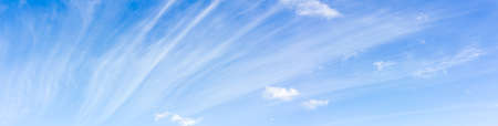 cirrus: Cirrus cloud on blue sky ,nature abstract background, panorama