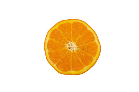slice of orange fruit isolated on white background with clipping path Stock fotó