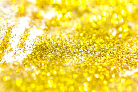 gold bokeh glitter abstract background, selective focus